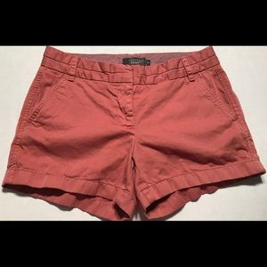 J Crew  Chino Womens Shorts Maroon Size 4 B007